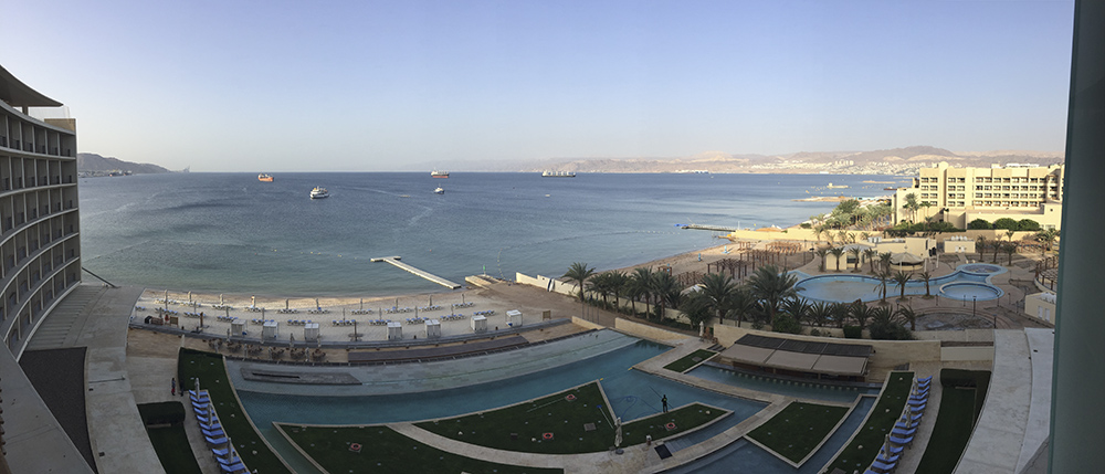 Red Sea from the hotel (Photo by Bob Rouse)