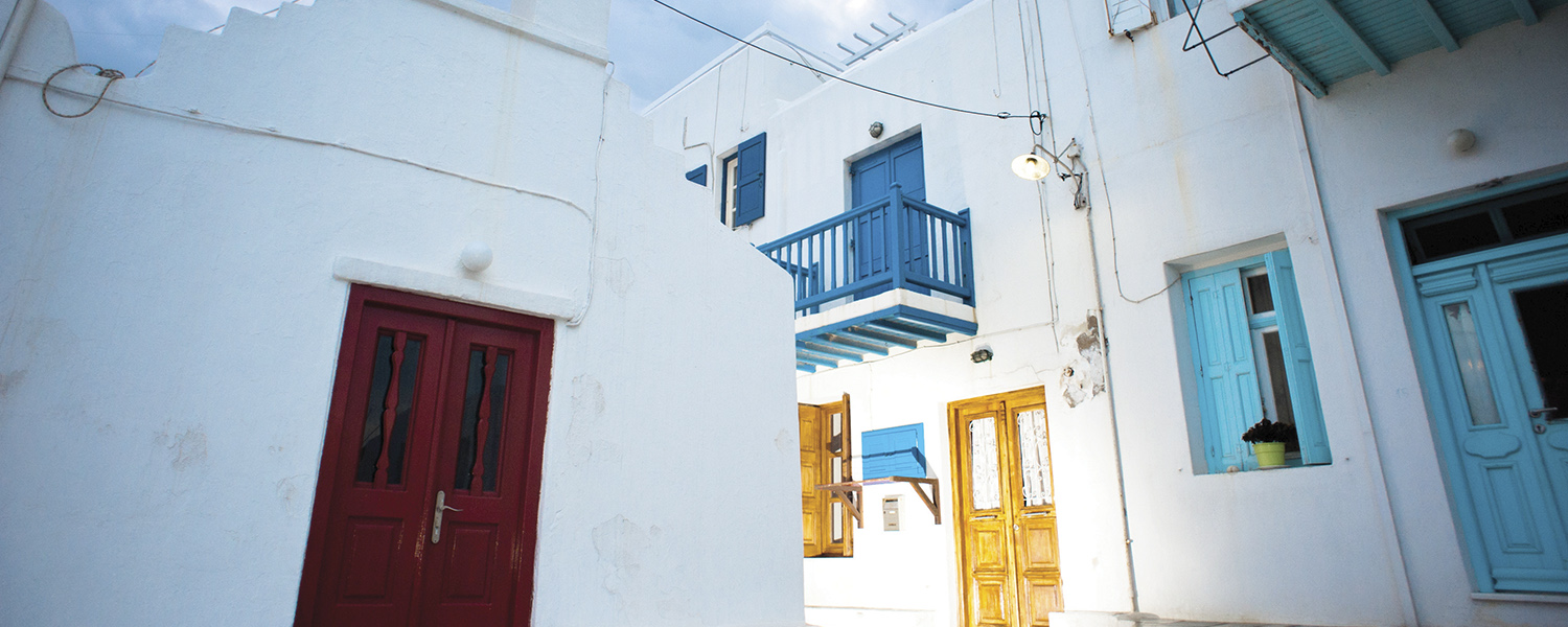 Houses in Mykonos, Greece