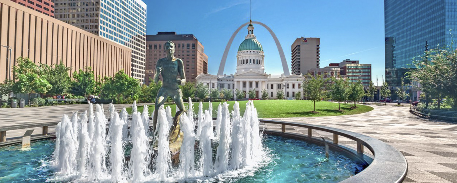 Kiener Plaza and the Old Courthouse, St. Louis