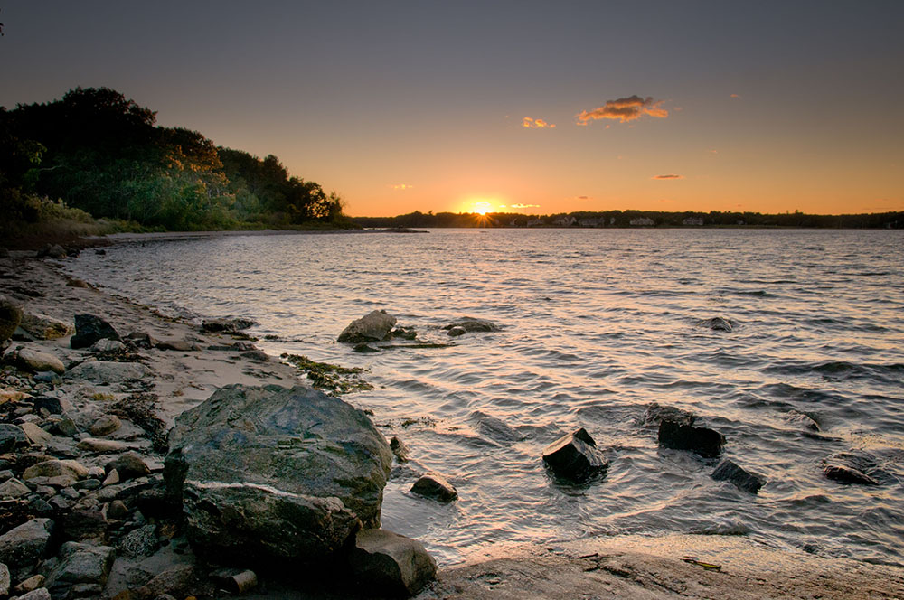Sunset on Little Harbor in Odiorne State Park