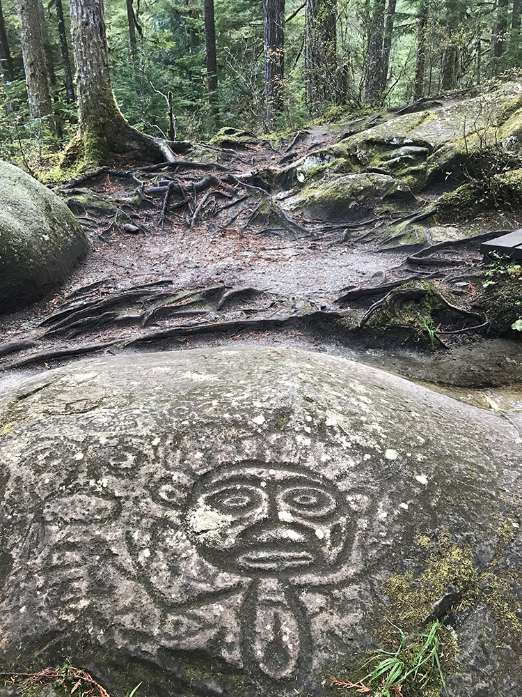 Petroglyphs in the Great Bear Rainforest