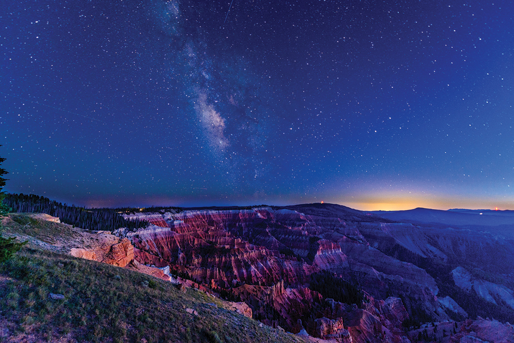 Night-sky viewing is a popular activity at Utah's Cedar Breaks National Monument.