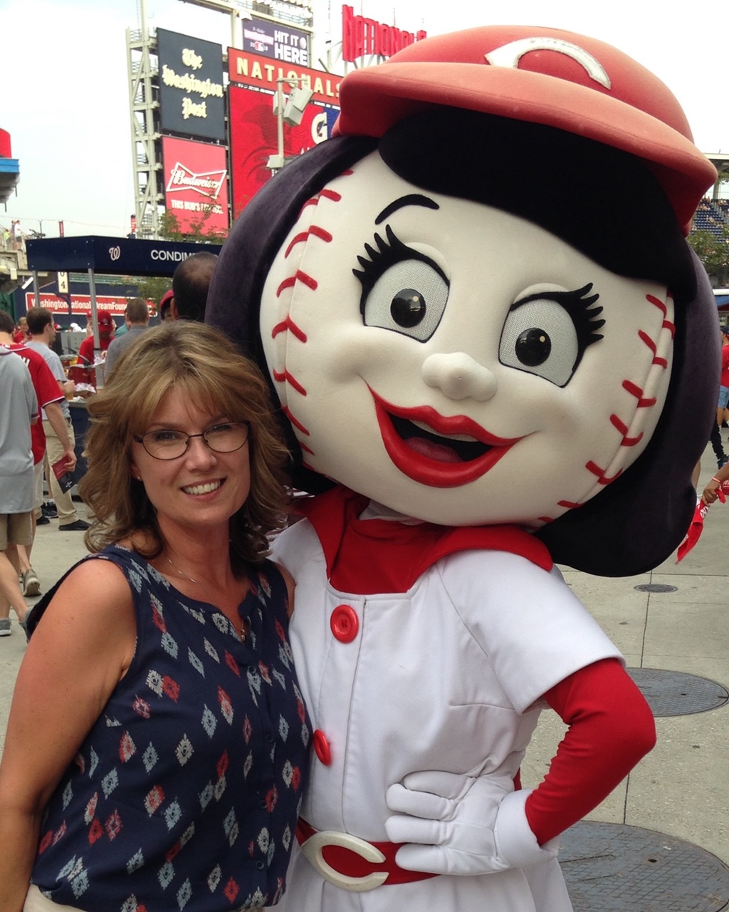 Lori Scott at Washington Nationals game