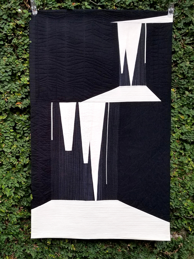 Sarah J. Lauzon, Waterfall, 2018; cotton, batting, thread; 50 3/4 x 31 1/2 in. Courtesy of the artist