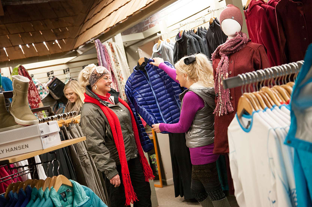 Shoppers at Slopeside Apparel & Gifts