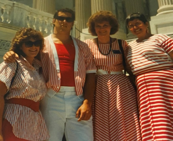 Mike Jensen in red stripes