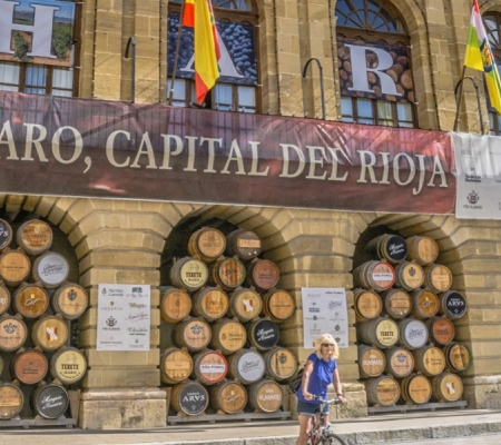 The town of Haro in Spain's Rioja wine region