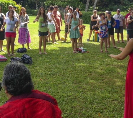 Students take hula lessons at Hawaii's Kualoa Ranch niche tours for students in hawaii