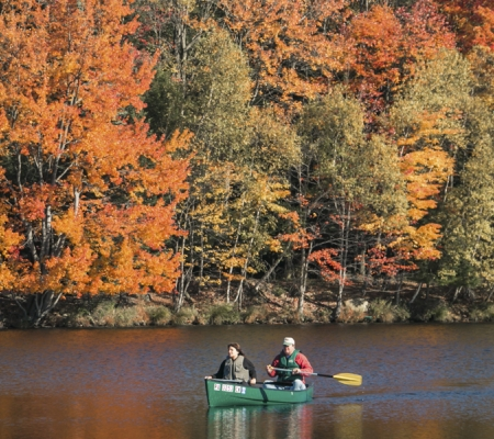 Canoeing in the Poconos