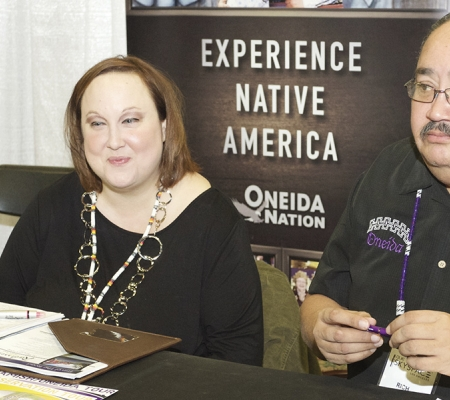 Rich Figueroa (Oneida Nation of Wisconsin) with Amanda LaFave (Green Bay Radisson Hotel & Conference Center)