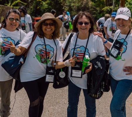 A group of women at work during Tourism Cares for Puerto Rico