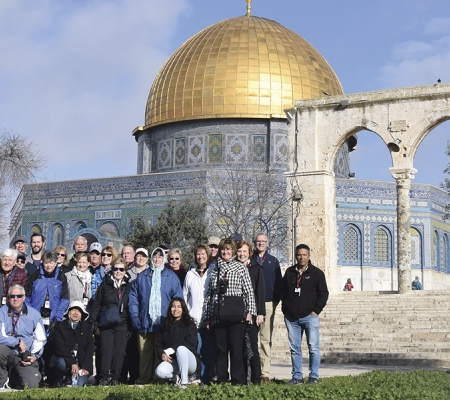 Group at the Temple Mount