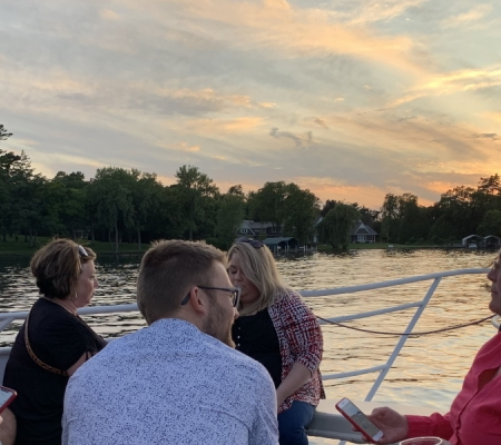 Sunset cruise on Lake Minnetonka