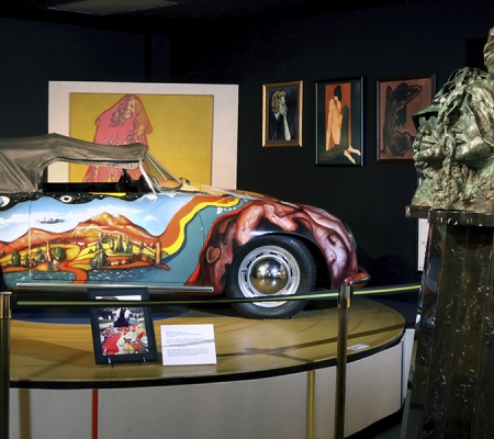 Museum of the Gulf Coast - Replica of Janis Joplin's Porsche