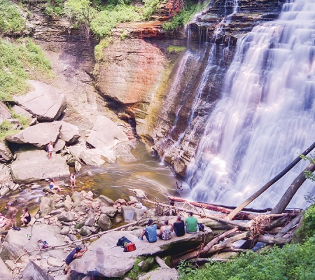 Ohio's Cuyahoga Valley National Park's Brandywine Falls