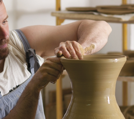 A potter at work