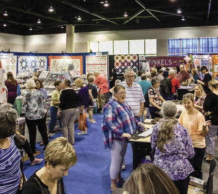 Expo center at AQS QuiltWeek Show