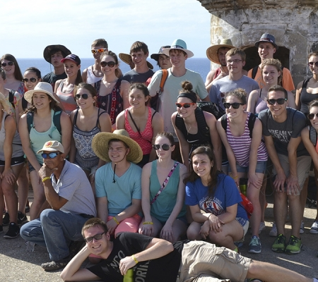 Vámonos Tours' group at San Juan National Historic Site