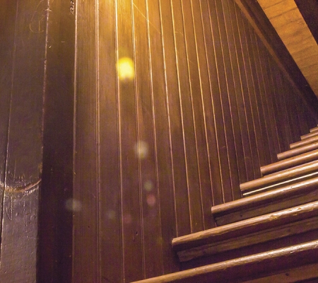 Stairway to the ceiling at the Winchester Mystery House