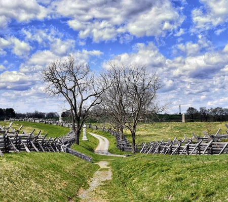The Sunken Road at Antietam National Battlefield