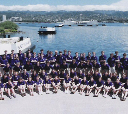 Student group at Pearl Harbor